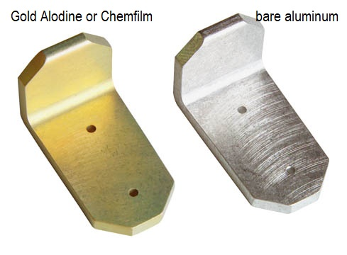 Gold alodine chemfim chem-film iridite for aluminum