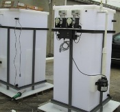 Batch waste treatment water system for electroplating