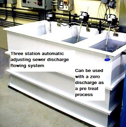 Automatic waste system used for anodizing or black oxide or phosphate or Parkerizing