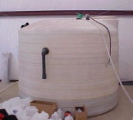 Anodizing line rinse water storage tank