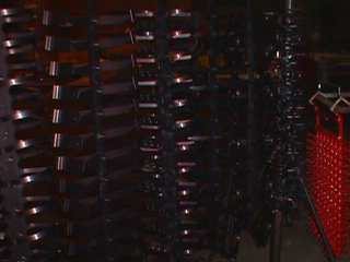 Titanium anodizing racks for show anodized parts in an anodizing process