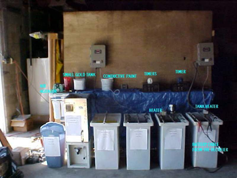 Plating rectifiers and tanks for copper, nickel. chrome plating