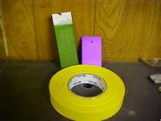 Anodizing tape for masking areas of a part that is not going to be anodized or for multi color anodizing